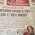 Hace un año denunciaban complot para asesinar al Papa Benedicto XVI
